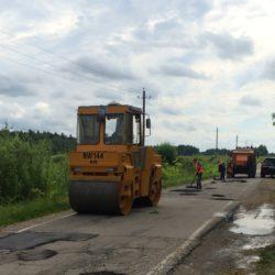 Мосавтодор произвел ямочный ремонт дороги с. Рождественно – д. Мамошино.